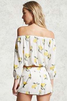 Lemon Off-the-Shoulder Top | Forever 21 - 2000285623