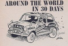 mini cooper cartoon  Sports Car Graphic May 1966