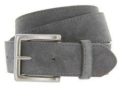 "Square Buckle Suede Leather Casual Jean Belt 1.5"" Wide Gray 38 Belts.com http://www.amazon.com/dp/B00LOT6690/ref=cm_sw_r_pi_dp_6t7aub1497K2C"