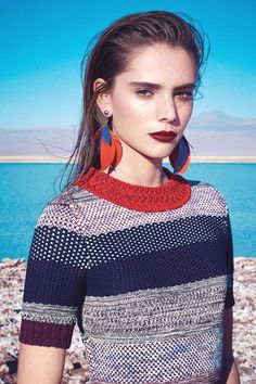 Top 25 Beautiful Spring Editorial Fashion for Women's - vintagetopia Fashion Moda, Look Fashion, Spring Fashion, Fashion Design, Fashion Trends, Stripes Fashion, Fashion Labels, Fashion Stylist, Harpers Bazaar