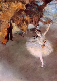 The Star, also known as Dancer on Stage Oil Painting Reproduction on Canvas By Edgar Degas Degas Paintings, Paintings Famous, Acrylic Paintings, Famous Artists, Edgar Degas, Ballerina Sketch, Ballerina Painting, Ballerine Degas, Degas Dancers