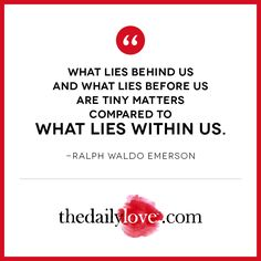 Visual Inspiration: What Lies Within Us