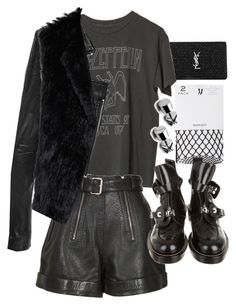 """Untitled #20743"" by florencia95 ❤ liked on Polyvore featuring Yves Saint Laurent, MANGO, Linea Pelle, Carven, Joie and Balenciaga"