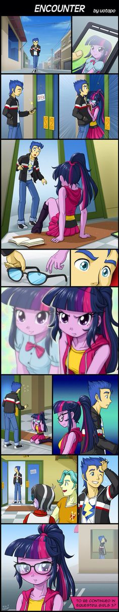 """I hope this happens in """"Equestria Girls friendship games"""". I hate Flash Sentry but I would want him to be with human twilight and not pony twilight. I mean seriously, a human and a pony in a romantic relationship? That's disgusting! Not to mention if he does go with human twilight, maybe Flash can develope some character, which he definitely lacks. Let's hope this happens."""