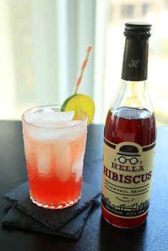 HIBSCUS GREYHOUND with Hella Co.'s new Hibiscus Cocktail Mixer // Distillerista
