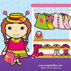 #Flower Belle is looking LOVELY today, she's in her favourite #dress :)) http://www.magicbelles.com/musicandgames/dressup/flowerbelle.html