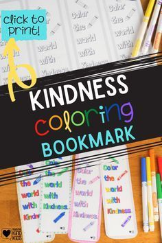 Use this kindness bookmark from Coffee and Carpool that your kids can color in to encourage kindness and remind them to be kind, even when they're reading books. Grab this fun resource to all a bit of color to reading projects and encourage kindness.