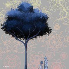 L'arbre de la Nuit des Temps Logiciel FireAlpaca // Tablette Wacom Pen & Touch  Artiste : Louise Bernard