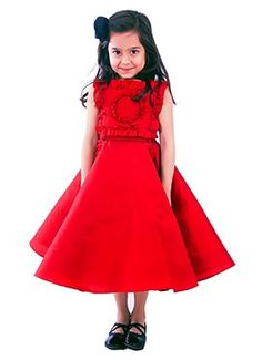 KidologyRed Fairytale Circle Dress