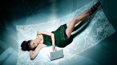 Sexy Woman with Laptop Wallpaper Mac Wallpaper Download | Free Mac ...