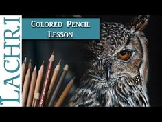 (4) How to draw a realistic owl in colored pencil - Lachri - YouTube