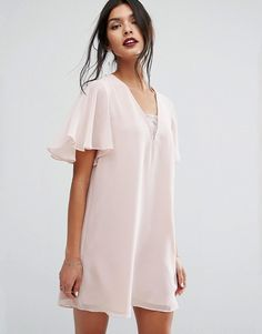 Buy BCBGeneration Bandeau Mini Dress at ASOS. With free delivery and return options (Ts&Cs apply), online shopping has never been so easy. Get the latest trends with ASOS now. Cosmopolitan, Cool Winter, Vestidos Color Rosa, Asos, Gowns Of Elegance, Elegant Gowns, Bcbgeneration, V Neck Dress, Chiffon Dress