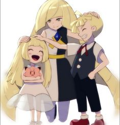 Lusamine Lillie and Gladion