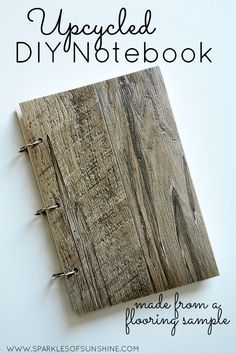 See how easy it is to make your own upcycled DIY notebook from a vinyl flooring sample.