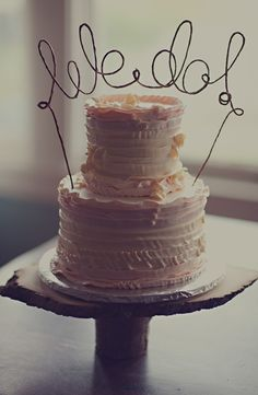Anto Arts 'We Do' Rustic Cake Topper | Nordstrom