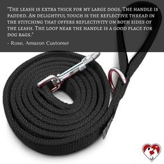 Read what our friend Rose has to say about our black reflective leash. Click the link in our bio to get yours. #leash #dogleashes #dogs #dogstagram #dogsofinstagram #puppiesofinstagram #puppystagrams #puppycraze #puppies #petsloversclub #instadog #instadogs #love #dogphotography#petsloversclub #petstagram #dailydog #dogoftheday