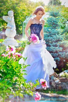 Buy Black & White A-Line Wedding Dress - a-line wedding dress