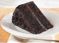"HERSHEY'S ""Especially Dark"" Chocolate Cake Recipe"