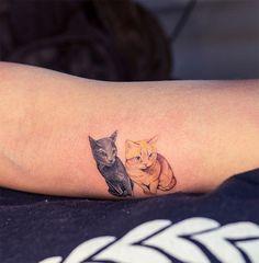 Tatuagem gatos cat tattoos sol tattoo