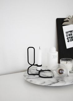 marble tray + candles | AMM blog