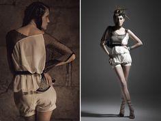 TETIS BLOUSE: asymmetrical sheer blouse, one sleeve, loose, beige chiffon, black net, patchwork, unique piece, polyester and cotton, elegant de vanessagbcn en Etsy