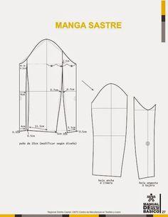 modelist kitapları: Manual-de-Patronaje-Basico-e-Interpretacion-de-Disenos Skirt Patterns Sewing, Coat Patterns, Clothing Patterns, Sewing Sleeves, Pola Lengan, Beading Tools, Modelista, Sewing Lessons, Pattern Cutting