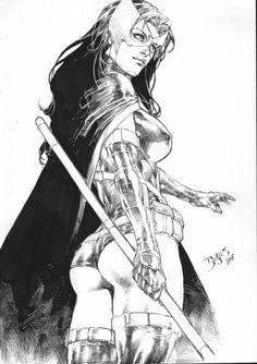 Drawing Dc Comics Huntress by Ed Benes Marvel Dc Comics, Heros Comics, Dc Comics Characters, Dc Comics Art, Comics Girls, Dc Heroes, Comic Book Artists, Comic Artist, Comic Books Art