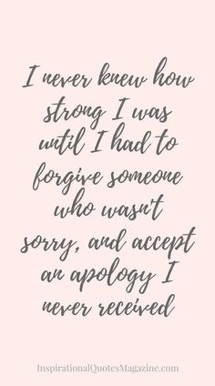 Inspirational Quote about Strength Forgiveness and Relationships Visit us at Famous Quotes For Success