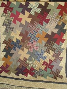 great design to use for memory quilts using shirts.  (This is such a fun quilt to make!  It's really quite addicting!)