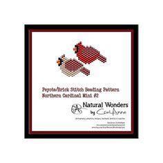 Northern Cardinals m2-M&F brick / peyote stitch patterns