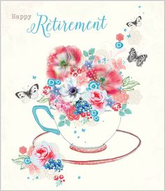 Card Ranges » 7380 » Retirement - Rose Tea - Abacus Cards - Greetings Cards, Gift Wrap & Stationery