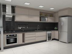 Free Image on Pixabay - Kitchen, Render - Modern Kitchen Kitchen Room Design, Kitchen Cabinet Design, Modern Kitchen Design, Home Decor Kitchen, Interior Design Kitchen, Kitchen Furniture, Modern Kitchen Renovation, Modern Kitchen Interiors, Kitchen Decorating