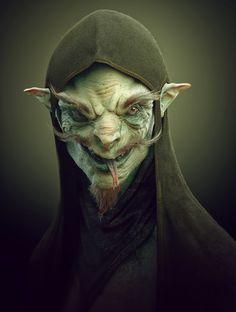 Goblin, modeled in ZBrush, rendered in KeyShot by Soren Zaragosa.