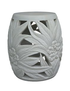 Garden Stool, Artisan Hand Carved in Solid Alabaster, So Beautiful, Sharing Hollywood Luxury Lifestyle Home Decor & Gift Ideas Courtesy Of InStyle-Decor.com Beverly Hills Enjoy & Happy Pinning
