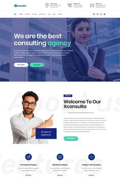 A modern and responsive design business website template with flexible demos and easy customization. Ideal for business, corporate, finance, agencie Web Design Trends, Web Design Grid, Web Design Mobile, Site Web Design, Layout Design, Web Design Quotes, Web Design Tutorials, Logo Design, Seo Website Design