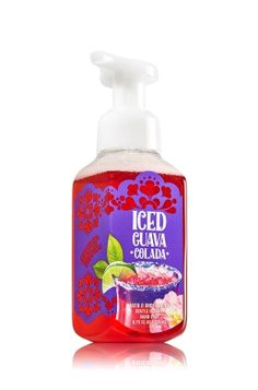 Iced Guava Colada - Gentle Foaming Hand Soap - Bath & Body Works - Our Gentle Foaming Hand Soap delivers a cloud of luxurious foam that transforms into a rich, creamy lather to gently wash away dirt and germs, while soothing Aloe and nourishing Vitamin E leave hands feeling soft, smooth and lightly scented!