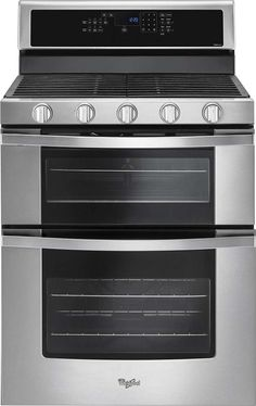 """Lowest price on Whirlpool WGG745S0FS 30"""" Stainless Steel Gas Double Oven Range - Convection. Shop today!"""