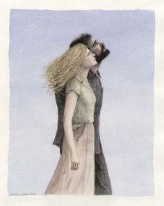 The Illustration Cupboard. Rhayader Followed Her Eyes by Angela Barrett. The Snow Goose