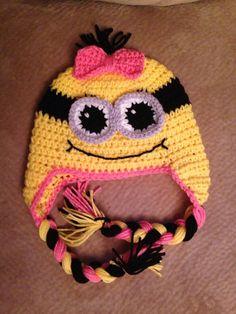 Crochet Minion Hat  on Etsy, $19.99
