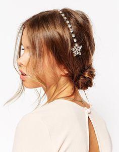 Image 1 ofASOS Beaded Floral Comb Headband