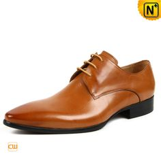 Mens Leather Lace-Up Derby Dress Shoes CW762024    Front lace up closure style leather derby dress shoes for men crafted from 100% real Italian cow leather upper, our quality leather lace-up dress shoes perfect for work to weekend with ease. Available in black, brown 2 colors!
