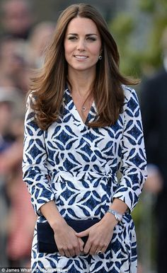 Dvf Pattern Wrap Dress Kate Middleton Outfits Kate Middleton