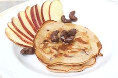 Apple and Choco Cashew Pancakes