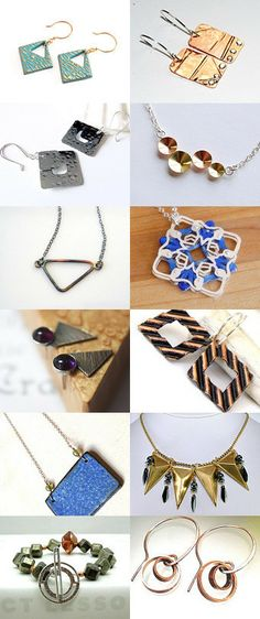 Geometric Design Jewelry by Bob and Terry on Etsy--Pinned with TreasuryPin.com