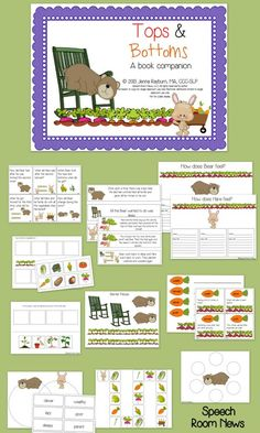 Speech Room News: Tops & Bottoms {book companion and freebie} Pinned by SOS Inc. Resources. Follow all our boards at pinterest.com/sostherapy for therapy resources.