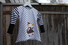 "handmade ""finnish täti monika"" applique shirt"