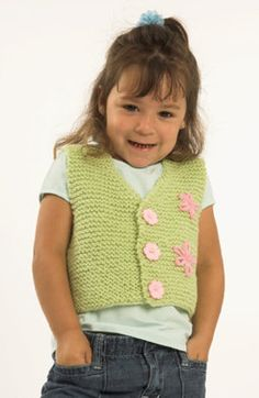 Toddler Vest in Plymouth Encore Worsted - Discover more Patterns by Plymouth Yarn at LoveKnitting. The world& largest range of knitting supplies - we stock patterns, yarn, needles and books from all of your favorite brands. Beginner Knitting Projects, Knitting For Kids, Baby Knitting Patterns, Knitting Designs, Free Knitting, Toddler Cardigan, Toddler Vest, Baby Cardigan, Knit Vest Pattern