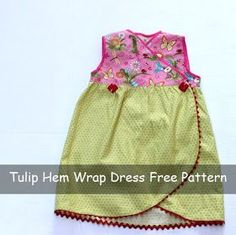 Tulip Hem Wrap Dress Free Sewing Pattern