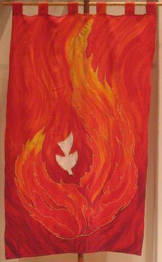 Lutheran Church of Honolulu | Red Paraments—Pentecost Banner