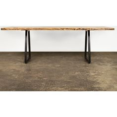Nuevo Living HGDA383 Kirin Dining Table w/ Fumed Oak Top & Cast Iron Legs 10% off coupon. This line of dining tables would be perfect ......gotta find a big one!!!!